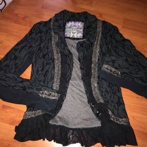 Free People Peplum Sweater Jacket